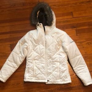 Columbia White Winter Coat
